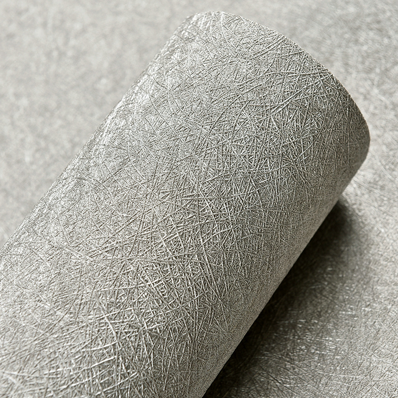 Gray Silver Beige Silk Texture Wallpaper Nordic Modern Waterproof