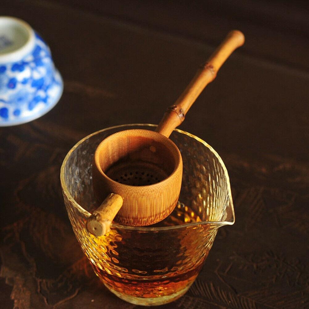 Infuser מתבשל בציר בית תה בית משרד מסננת יד כלים Artware ארוך ידית נגד טחב תה מסננת במבוק מסנן
