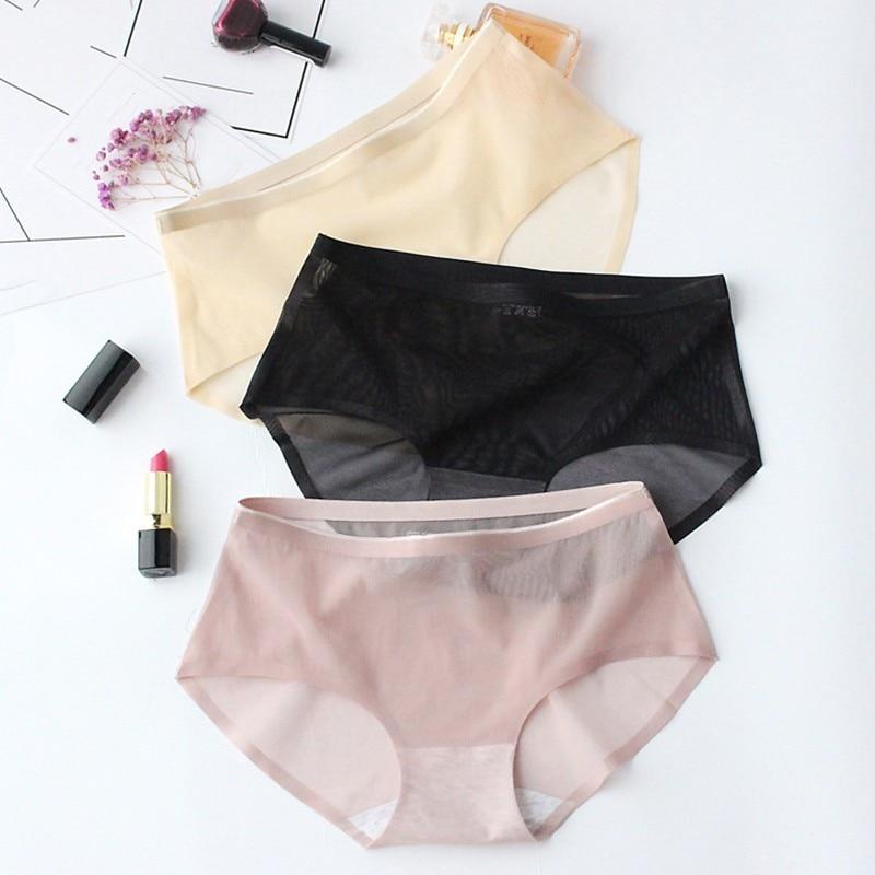 Deruilady Women Sexy   Panties   Net Yarn Transparent Charming Underwear Women Seamless Ultra-thin Briefs Sexy Lingerie   Panty   Women