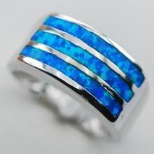 Blue Opal 925 Sterling Silver Gemstone Ring Size 6 7 8 9 10 R1304