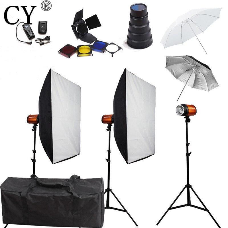 CY Photography Soft Box Godox Smart 300SD 900w Flash Lighting KitsI Photo Studio Accessories