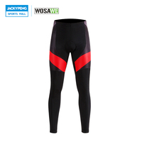 WOSAWE New Men's Cycling Pants 3D Gel Padded Bicycle Cycle Pants Breathable Sport Compression Tights Culotte Clismo