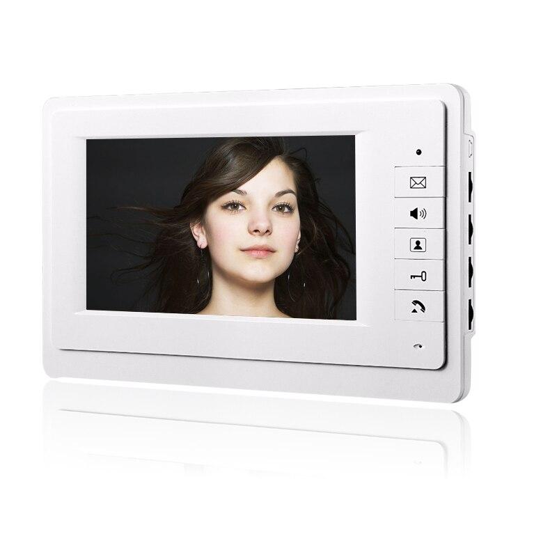 """Intercomunicador de puerta de vídeo con cable unidad interior pantalla LCD de 7 """"sin unidad de cámara al aire libre"""
