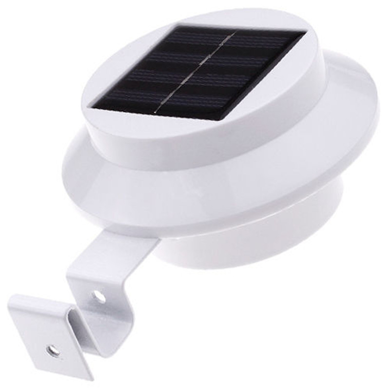 New Solar Powered 3 LED Outdoor Lights Lamp Fence Gutter ...