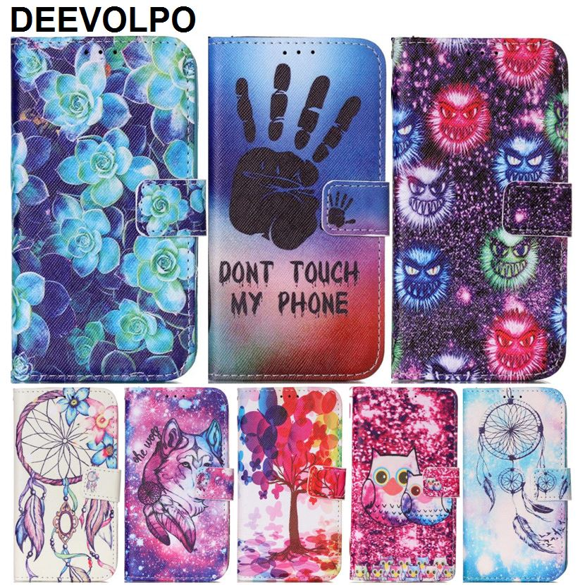 Phone Back <font><b>Case</b></font> For Fundas iPhone 8 7 6 6S Plus ipod touch 6 Leather Cover Flower <font><b>Ghost</b></font> Cats Wolf Stand <font><b>Shell</b></font> Capa DP03Z image