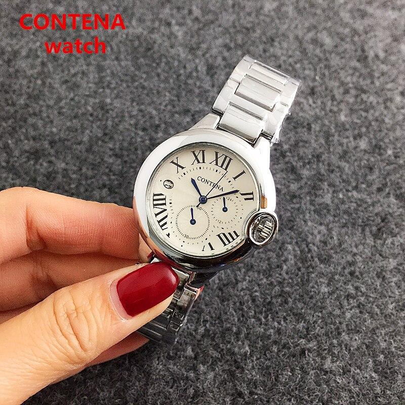 CONTENA Brand Women Watches Luxury Crystal Diamond Ladies Watch Fashion Rose gold Elegant Quartz Watch Woman