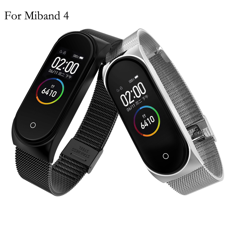 For Mi Band 4 Metal Strap Bracelet For Xiaomi Mi Band 4 Screwless Mi Band 4 Bracelet MiBand Wrist Band Smart Miband 4 Steel