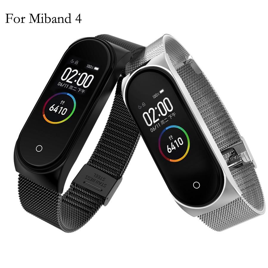 For Mi Band 4 Metal Strap Bracelet For Xiaomi Mi Band 4 Screwless Mi Band 4 Bracelet MiBand Wrist Band Smart Miband 4 Steel