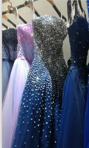 Image 5 - RSE197 Yiaibridal Elegant Bling Bling Silver Beading Readt To Ship Stock Dress Long Royal Blue Prom Dress