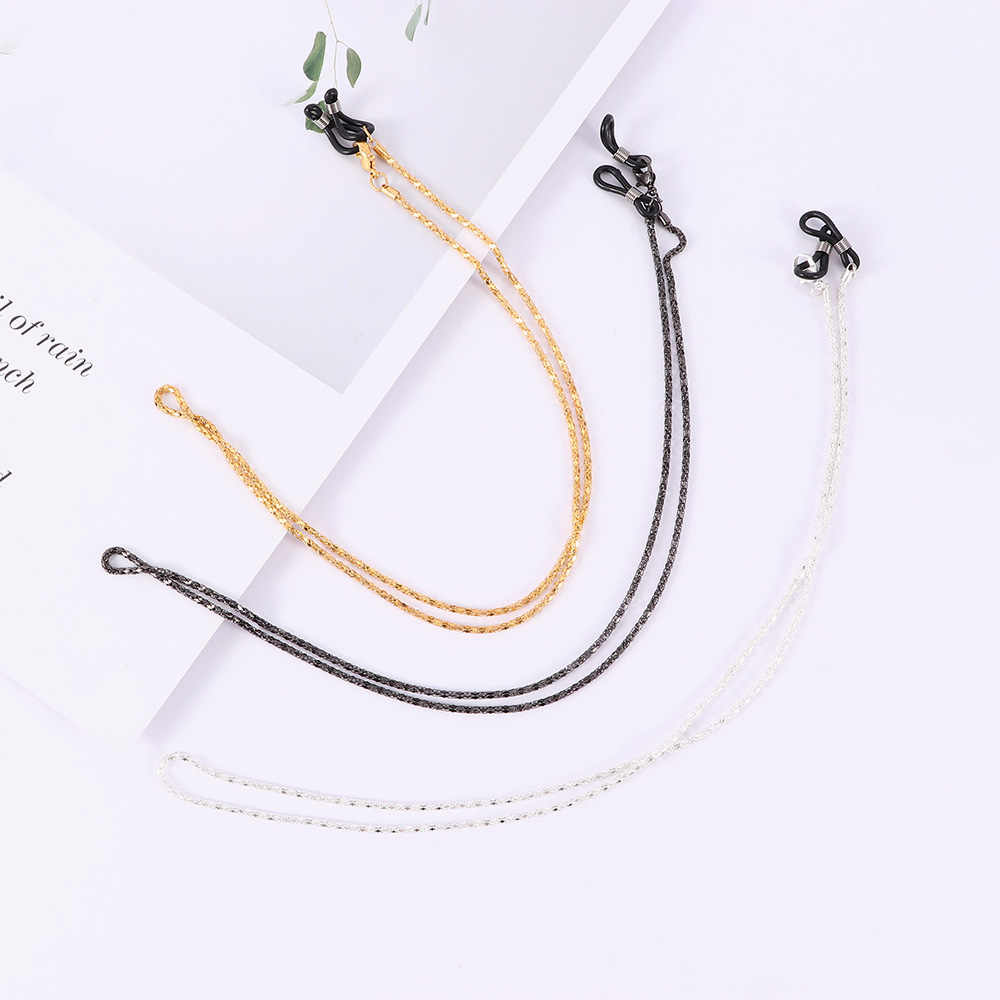 1pcs Glasses Chain Sunglasses Lanyard Strap Necklace Metal Eyeglass Glasses Chain Cord For Reading 61cm Adjustable Chain