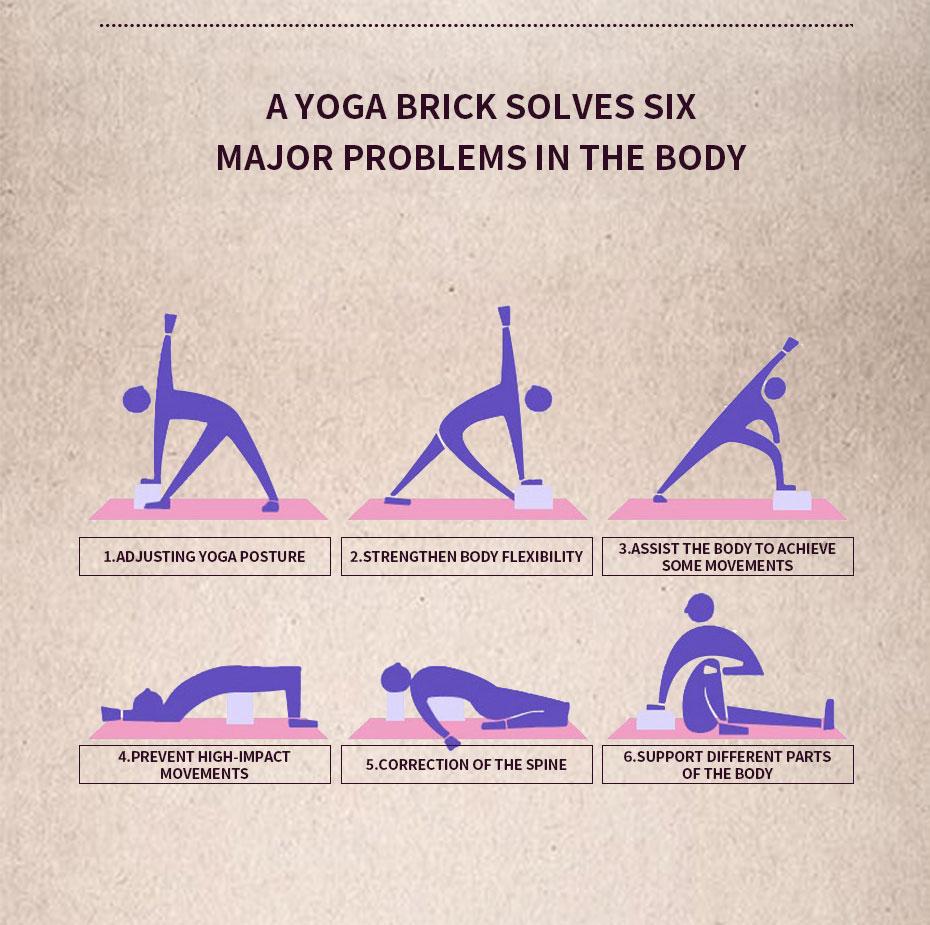 Yoga Different Positions - Brick Helper