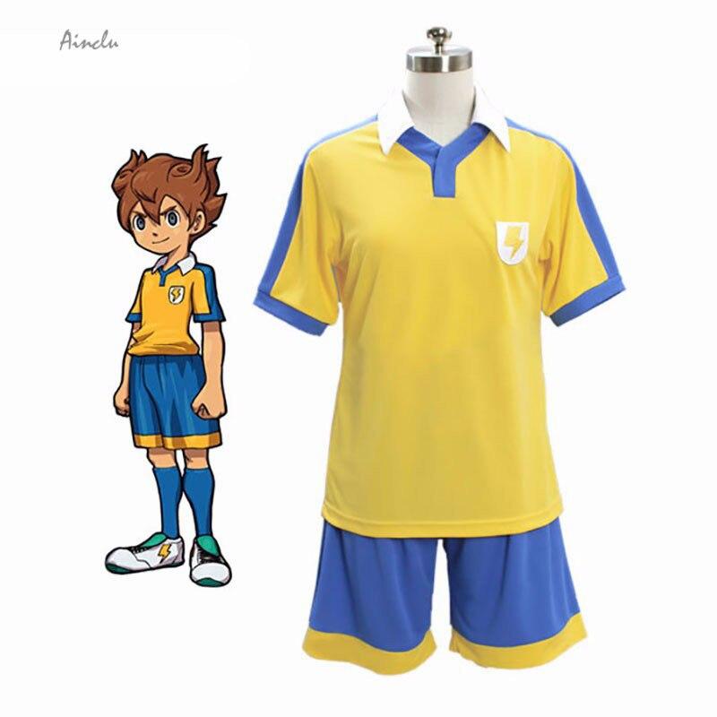 Ainclu New Inazuma Eleven Raimon School Golden Football Jersey Cosplay Costume