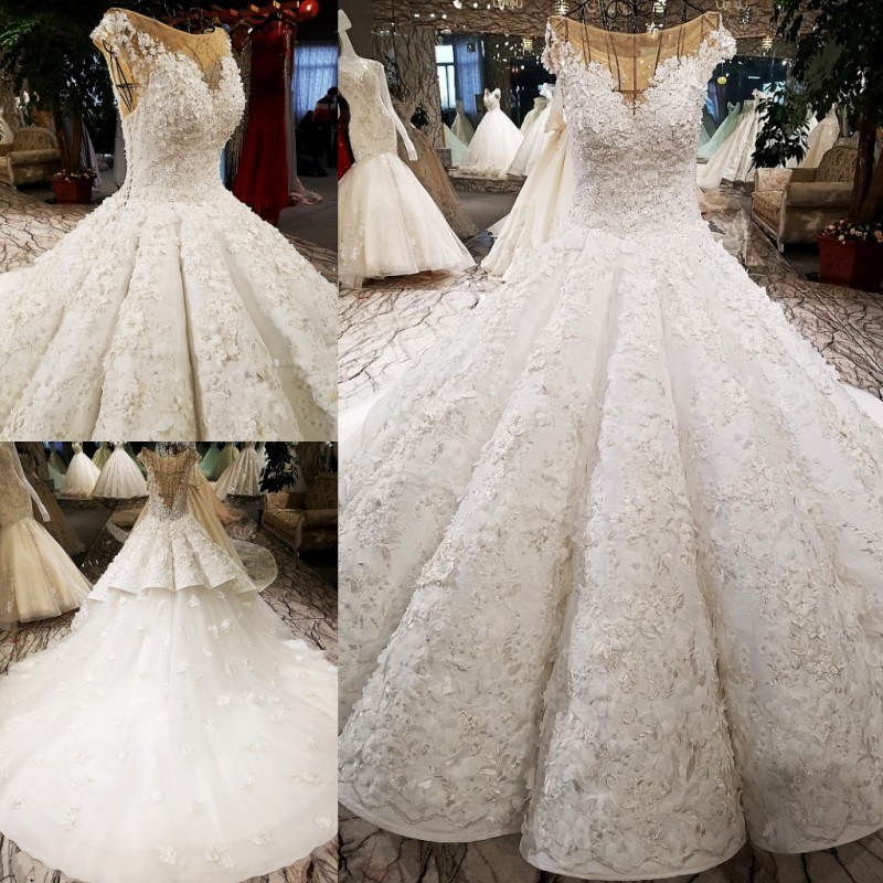 Us 748 0 Extreme Luxury High End Wedding Dresses 2018 Diamond Pearls Vintage Fashion Y Bridal Gowns Real Photo In From Weddings