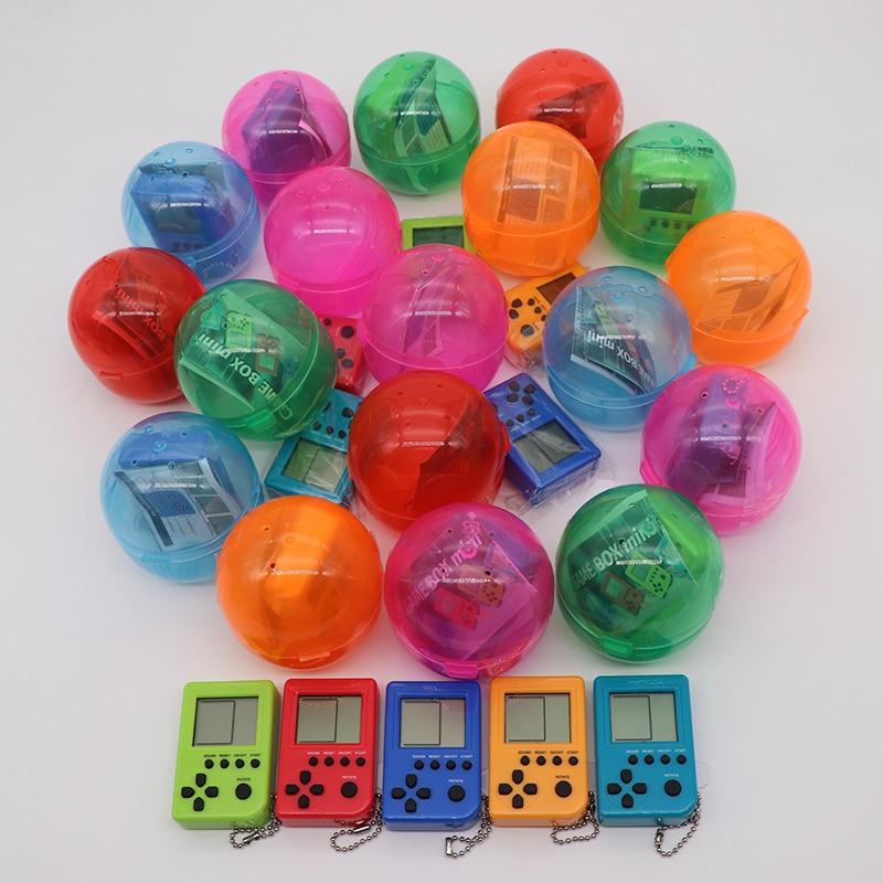 KaRue Tetris Handheld Game Console Pendant Keychain Handheld Game Playes Mini Child Game ...