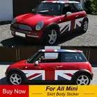 Юнион Джек Стиль DIY автомобиля Боковая дверь юбка стикер тела наклейка для Mini Cooper One JCW S R60 R55 R56 F55 F56 F60 Стайлинг автомобиля