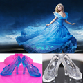 NK 10 Pairs Imitation Fairy Tale Crystal Shoes For CINDERELLA Fashion Princess Doll Shoes Heels Sandals For Barbie Doll Baby Toy