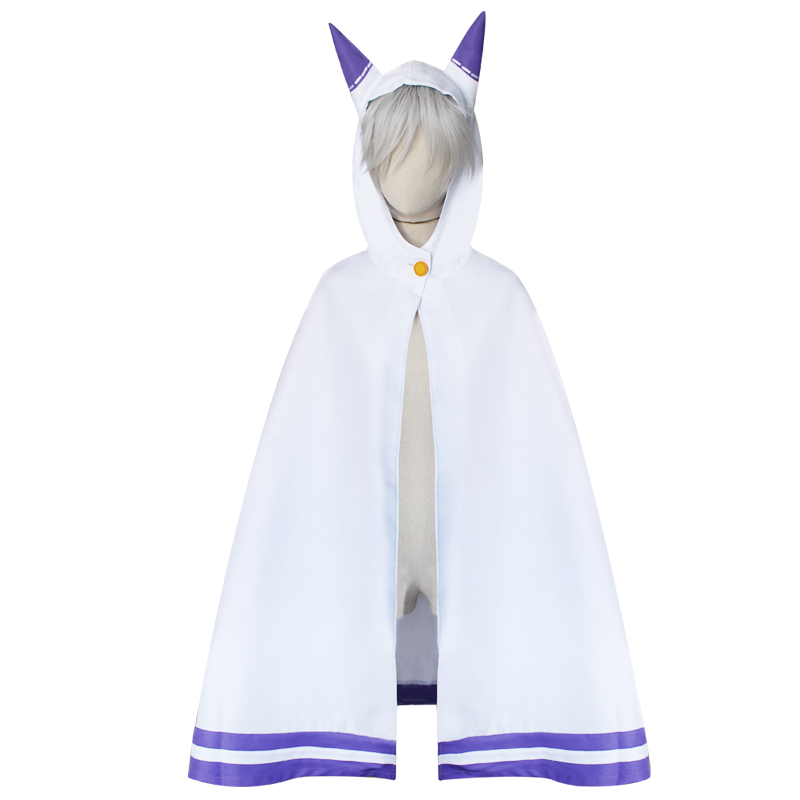 Re:Life in a different World from zero Cape Cloak Robe Emilia Cat ears Cape Cloak Cosplay Costumes