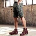 AIRGRACIAS 2017 Hombres Calientes del Verano Shorts Militares Pantalones Moda Casual Pantalones Cortos de Algodón Multi-bolsillos Tamaño 29-40, 6 Colores