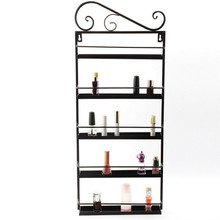 Black Nail Polish Storage Wall Mount Shelf Rack Display Orgenizer Stand Holder To 50+Bottles
