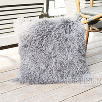 CX D 04 Custom Size Mongolia Lamb Fur Real Fur Decoration Cushion Cover Pillow Cases ~DROP SHIPPING