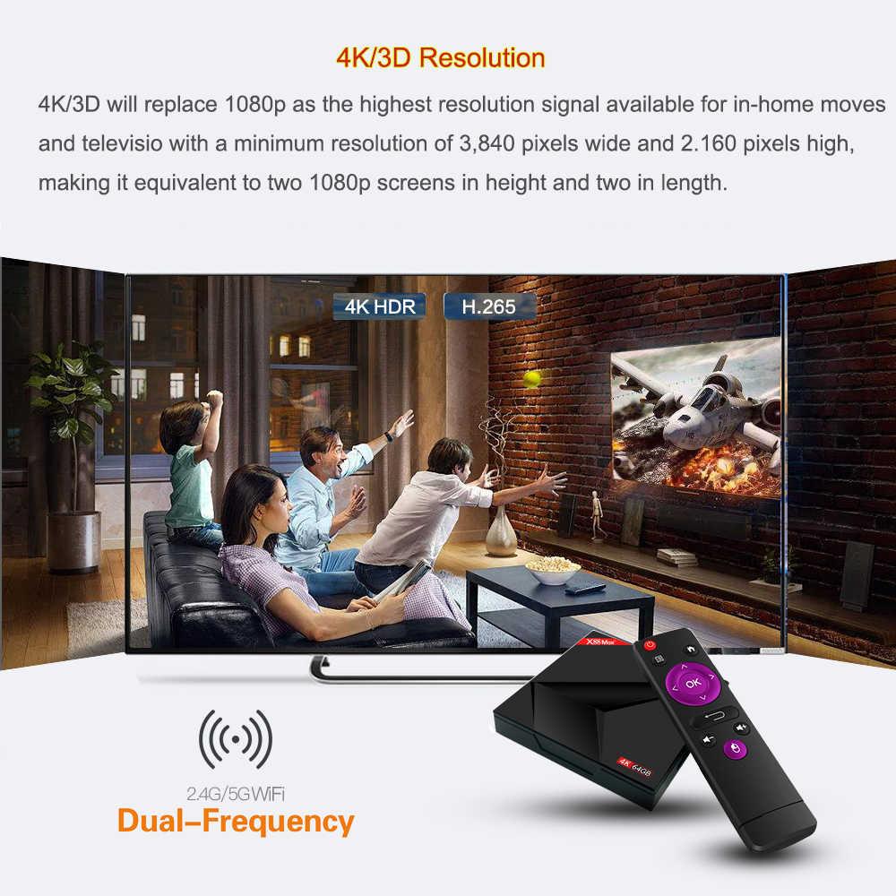 Android 9 0 TV Box X88 Max Plus 4GB 64GB Rockchip RK3328 Quad-Core 64bit  2 4G/5GHz Dual WiFi 4K Google Play Store Smart TV Box