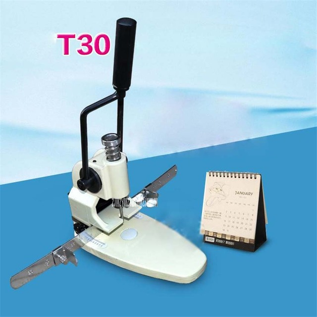 hand drilling machine. t30 paper drilling machine manual, hand hole punch machine, single thickness 35mm