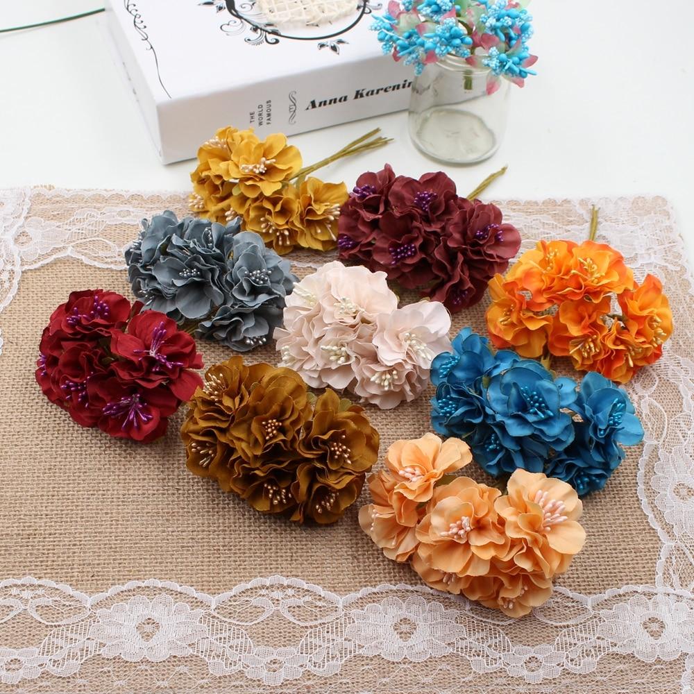 60pcslot silk stamen daisy artificial flower bouquet for wedding 60pcslot silk stamen daisy artificial flower bouquet for wedding decoration diy scrapbooking decorative wreath izmirmasajfo