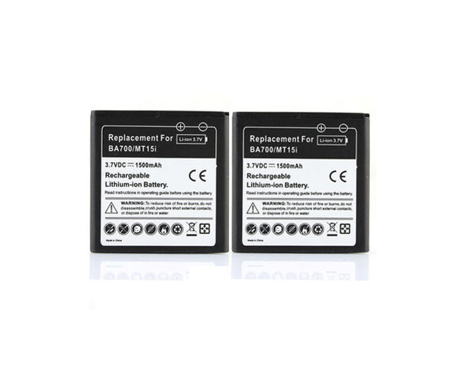 For Sony Ericsson Phone 2 x 1500mah Replacement Battery BA700 For Xperia Halon Pro Neo Lyokan ST18i MT11i MT15i MK16i Batteria
