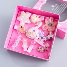 Kids 10 Pcs/Set Hair Clips For Girls Laser Sequin Barrette Girls Party Bling Hair Accessories Hairclip Cute Hairpins Gift Box mini hat lace flower kids girls hair clips barrette style accessories for children hair hairclip ornaments hairpins head gifts