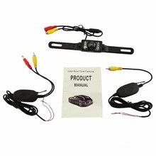Low price 2.4G Wireless RearView Camera waterproof Reversecar Camera Waterproof night vision RearView car Camera free shipping