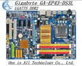Envío gratis madre original de potencia de estado sólido gigabyte ga-ep43-ds3l motherboard lga775 ddr2 ep43-ds3l p43-ds3l