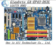 Free shipping original motherboard for Gigabyte GA-EP43-DS3L motherboard Solid-state power LGA775 DDR2 EP43-DS3L P43-DS3L