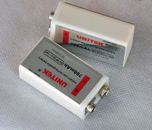 UNITEK 6F22 USB 9V rechargeable lithium ion battery 700mAh li ion cell for wireless microphone replace ni-mh nimh 9V cell цена и фото