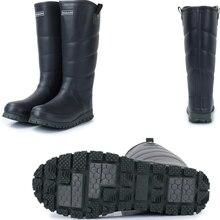 Bottes de pêche wellington pour hommes, bottes de pluie étanches avec peluche, en caoutchouc, chaussures de pluie, qualité supérieure, vêtements dhiver