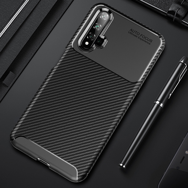 For Huawei Honor 20 Case Carbon Fiber Full Protection Cover 1