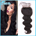 virgin brazilian body wave lace front closure piece bleached knot baby hair cheap Swiss lace closure free middle 3 part closures