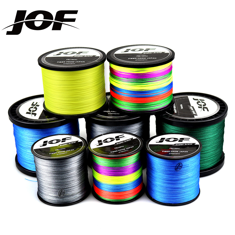 JOF 9 Strands 8 Strands 1000M 500M 300M PE Braided Fishing Line Japan Multicolour Saltwater