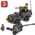 Building Block Sets Compatible con lego Pasatiempos Educativo militar anti-aircraft gun 3D de Construcción de Ladrillo Juguetes para Los Niños