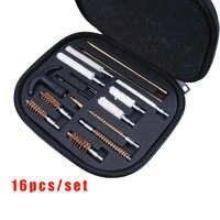 Kit Universal de limpieza de pistolas de 16 Uds., cepillos de barril, herramientas para la mayoría de pistolas de calibre 22 357 38 40 44 45 9mm, juego de limpieza de armas