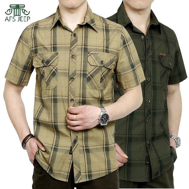 ROUPAS de Verão 2017 Dos Homens Camisa de Algodão Camisas Xadrez Camisas de Vestido Plus Size 4XL 5XL Vestidos de Bolso Camisetas Homens Roupas Casuais