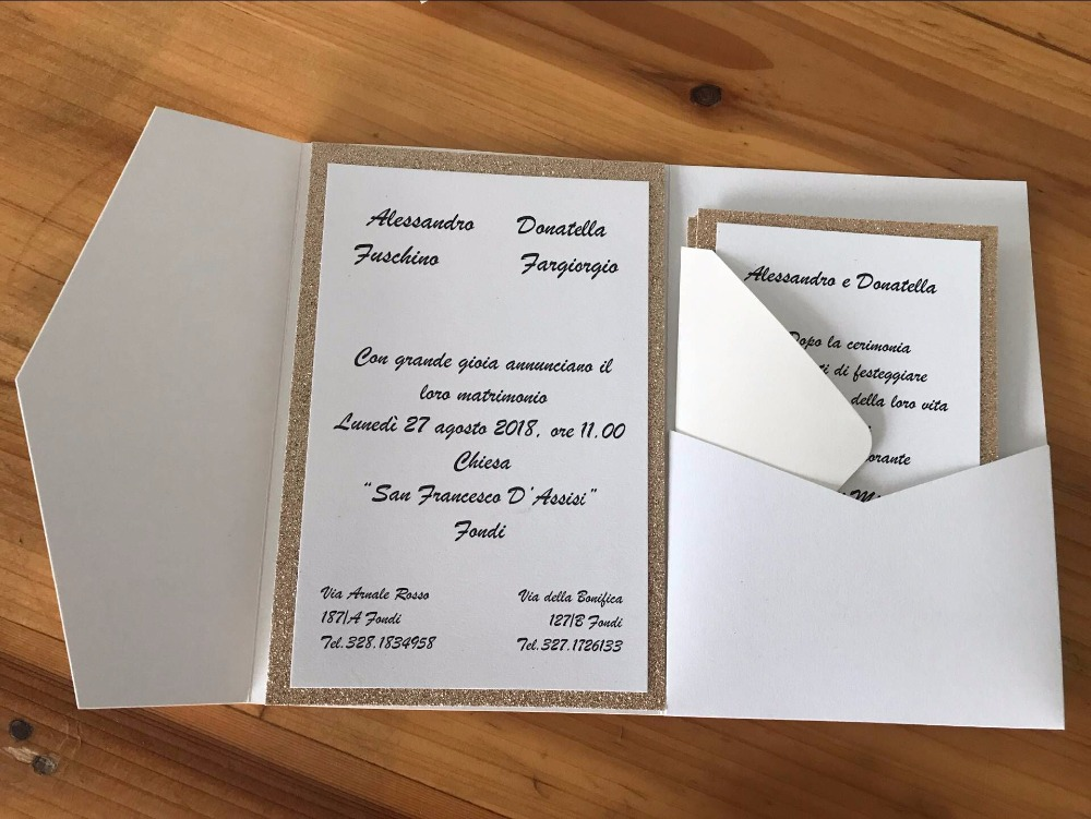 Pocketfold Wedding Invitation Cards