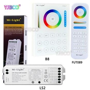 2,4 г FUT089 MiLight беспроводной 8 Zone remote; B8 настенный сенсорный Панель; LS2 5IN 1 интеллектуальный светодиодный контроллер для RGB + CCT светодио дный поло... >> LED-2811