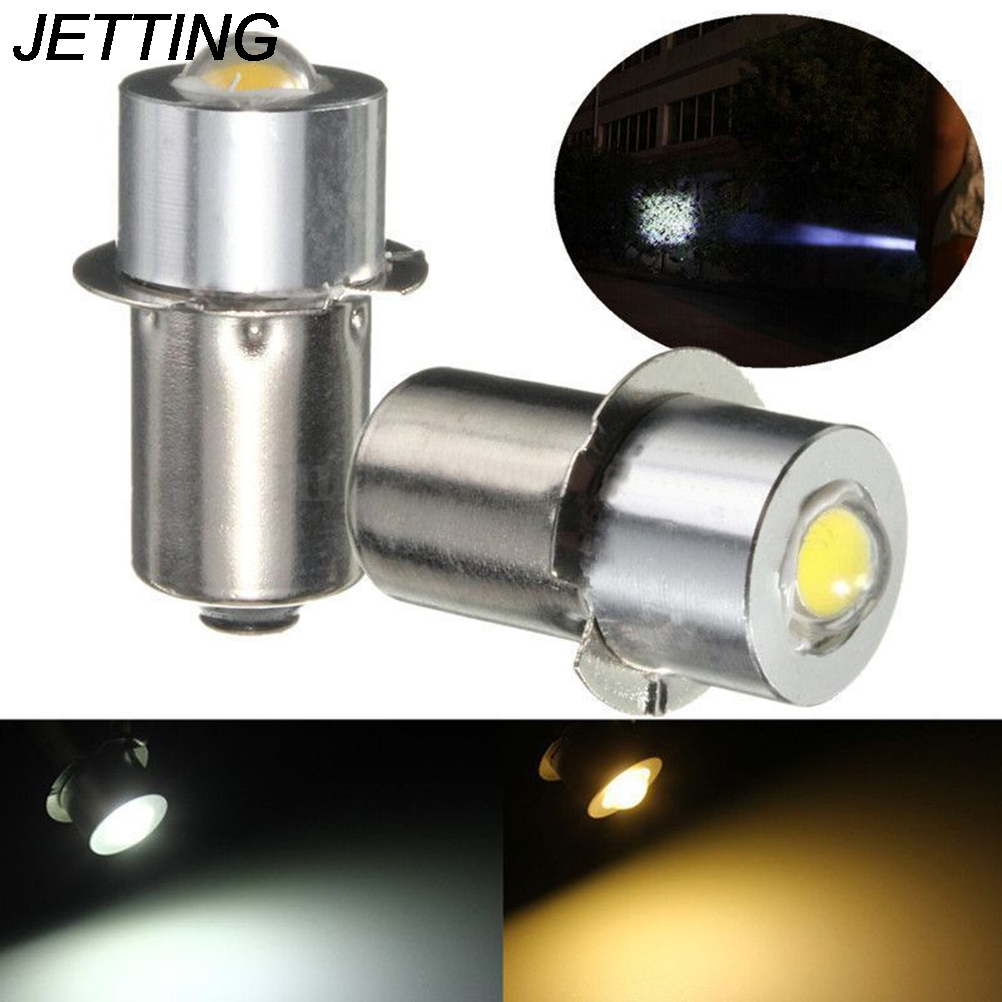1PCS DC 3-18V P13.5S PR2 1W LED Flashlight For Interior Bike Torch Spot Lamp Bulb High Brightness 90Lumen Warm/Pure White