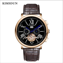 KIMSDUN Automatic Mechanical Watch Men Luxury Brand Tourbillon Business Waterproof Watch Men Fashion Wristwatch New Arrival 2019