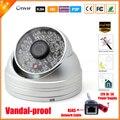 Ultra baixa iluminação sony imx322 sensor de 2mp câmera ip full hd 1080 p cctv câmera dome vandal-proof impermeável ao ar livre ip cam