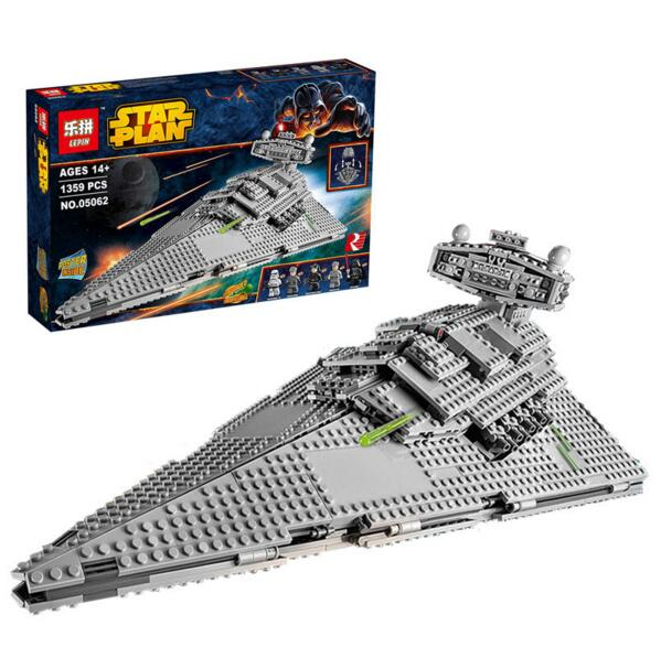 Lepin 05062 Star War building blocks Imperial Super Star Destroyer Set Educational starwar Bricks Compatible Toy Gift 75055 lepin 05028 3208pcs star wars building blocks imperial star destroyer model action bricks toys compatible legoed 75055