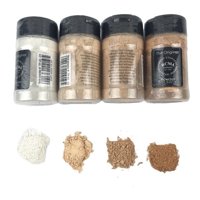 Nuevos cosméticos faciales profesionales a prueba de agua minerales de control de aceite Contorno de maquillaje blanco paleta de polvo suelto translúcido