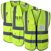 Reflective Safety Vest With Pockets Working Clothes Hi vis jacket