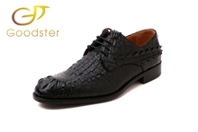 Goodyear men shoes Australian alligator leather made men's shoes business formal dress shoes