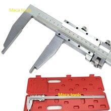 0-500 мм штангенциркуль стальная направляющая штангенциркуль с наконечником стильная длинная челюсть тяжелый дежурный суппорт измерительный прибор